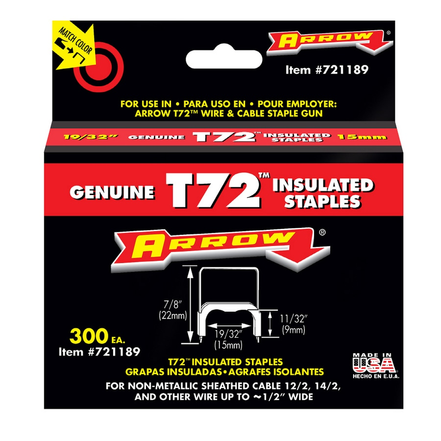 Arrow 300-Count 0.343-in T72 Staples