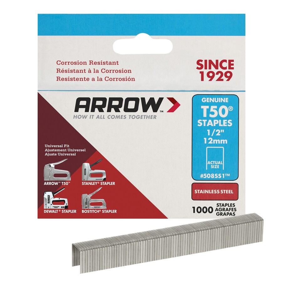 Arrow Fastener 1,000-Count 0.5-in Heavy-Duty Staples