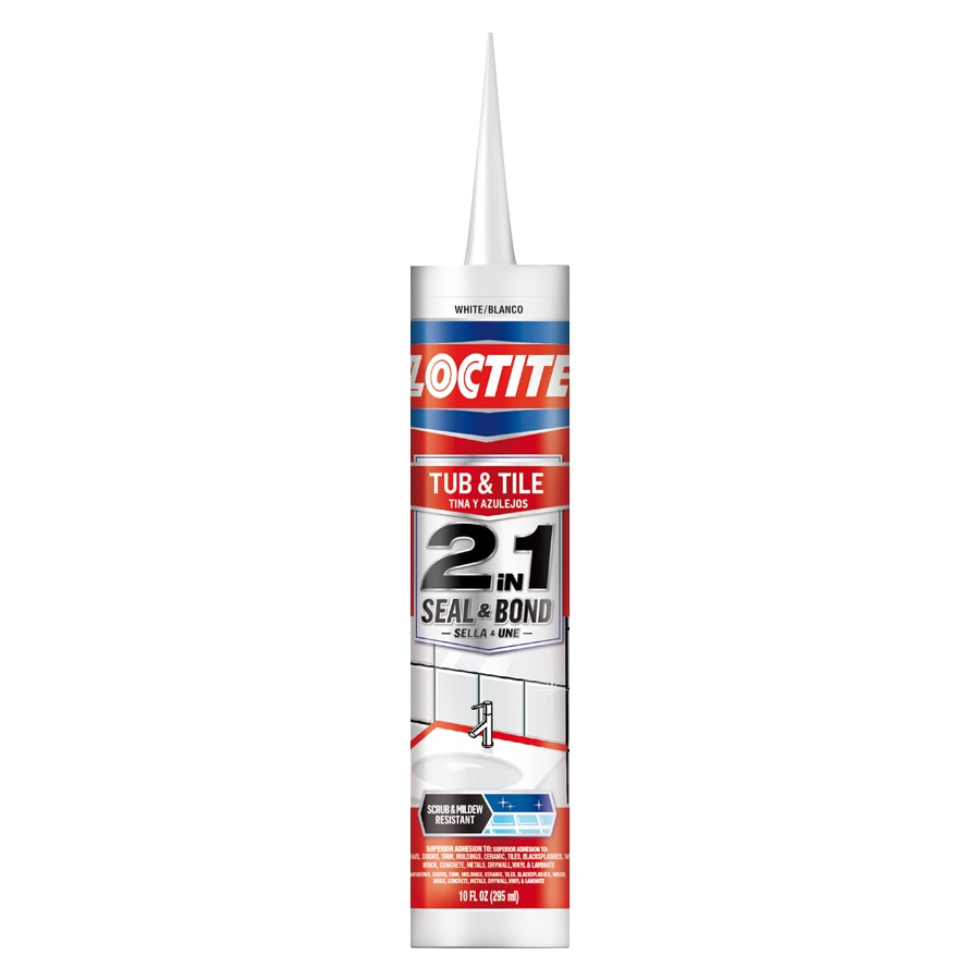 LOCTITE 2In1 10-oz White Paintable Tub and Tile Latex Kitchen and Bathroom Caulk
