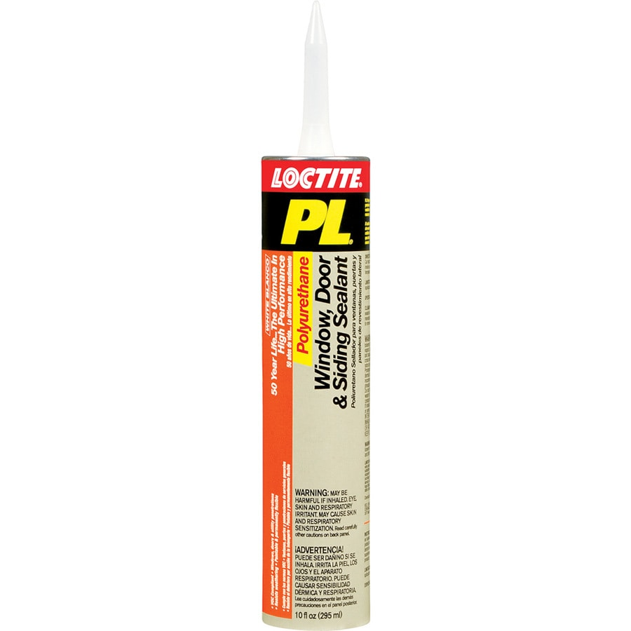 LOCTITE Pl 10-oz White Paintable Polyurethane Window and Door Caulk