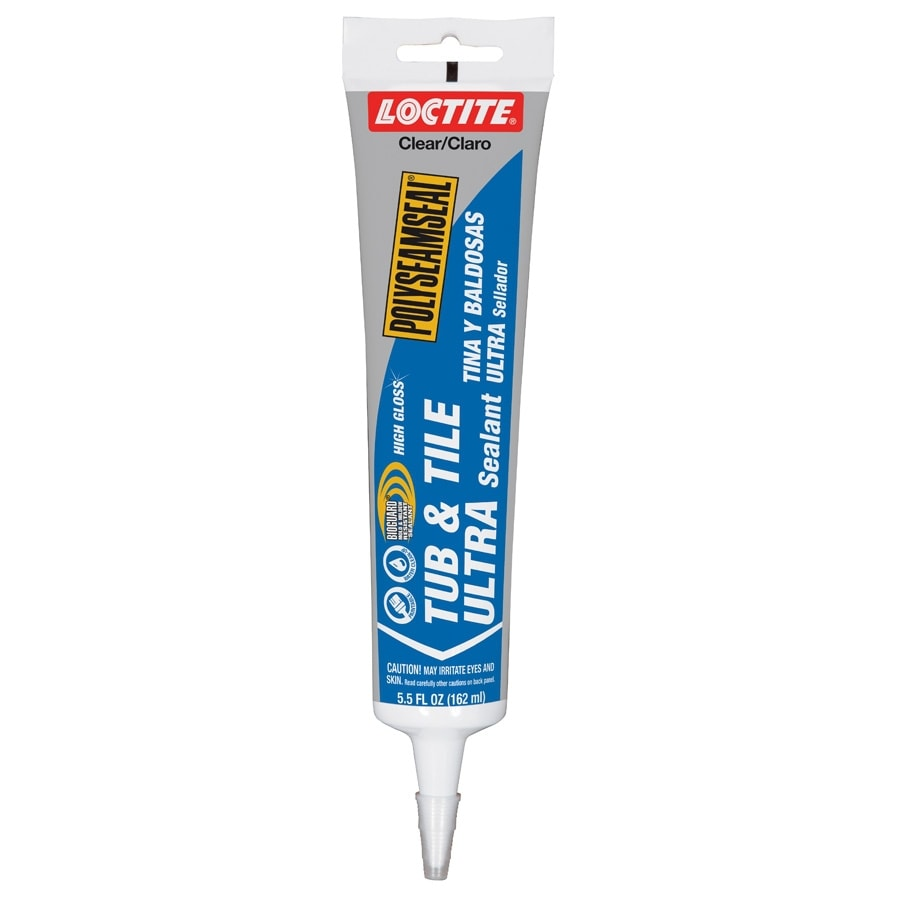 LOCTITE 5.5-oz Clear Paintable Tub and Tile Latex Kitchen and Bathroom Caulk