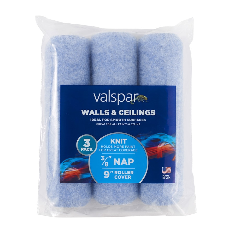 Valspar 3-Pack 9-in x 3//8-in Woven Polyester Paint Roller Cover