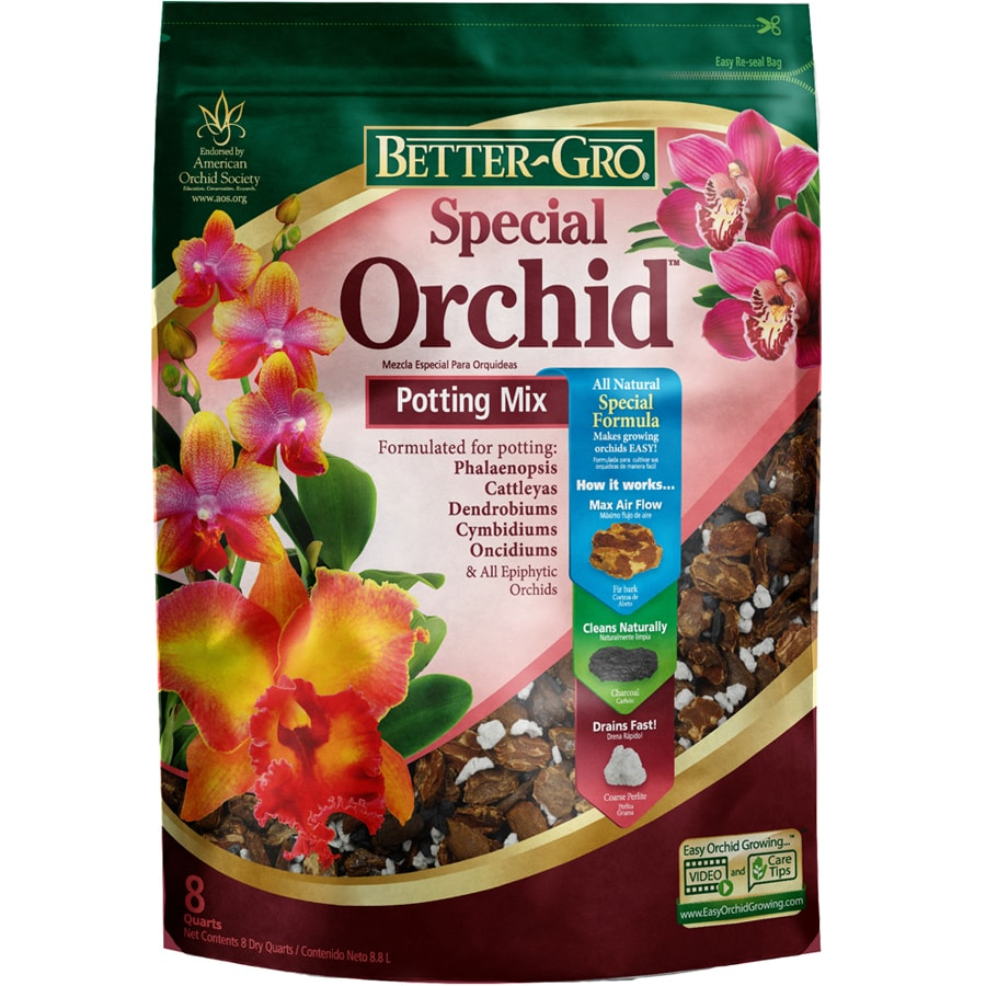 BETTER-GRO Orchid Mix 8-Quart Organic Orchid Mix Soil