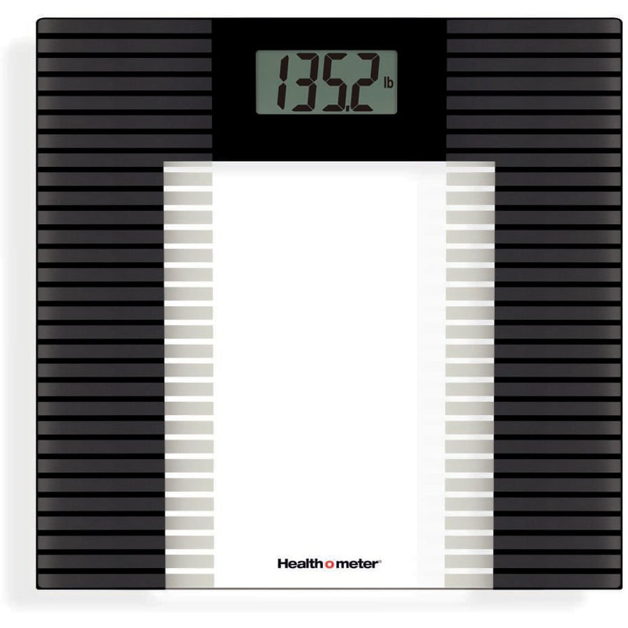 Health o meter Clear Glass with Black Accents Digital Bathroom Scale
