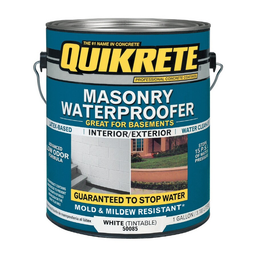 Shop Quikrete Gallon White Masonry Waterproofer At