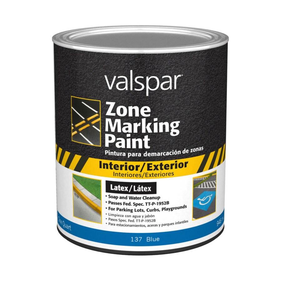 Valspar Zone Blue Latex Marking Paint (Actual Net Contents: 32-fl oz)