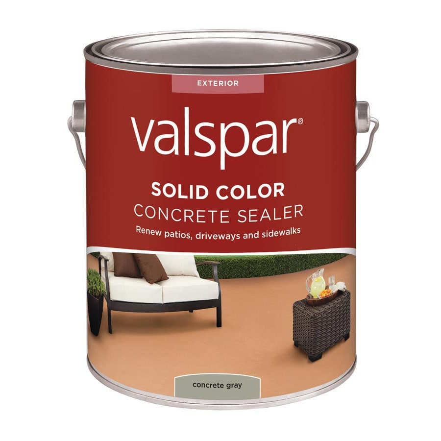 Valspar Solid Color Concrete Stain Concrete Gray Voc (Actual Net Contents: 128-fl oz)