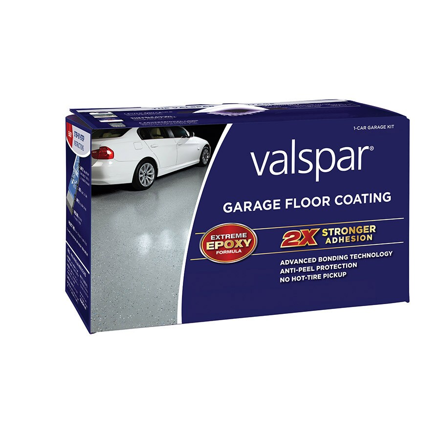 Valspar 2-Part Gray Semi-Gloss Garage Floor Epoxy Kit (Actual Net Contents: 120-fl oz)