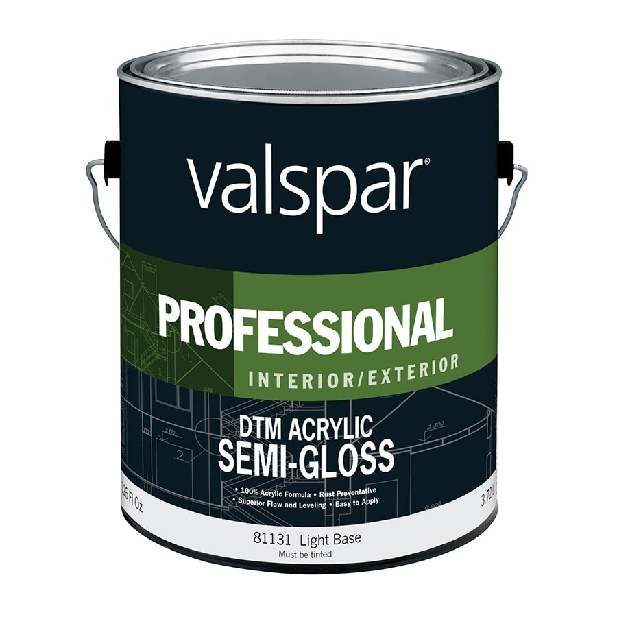 Valspar Pro DTM Semi-Gloss Interior/Exterior Paint (Actual Net Contents: 126-fl oz)