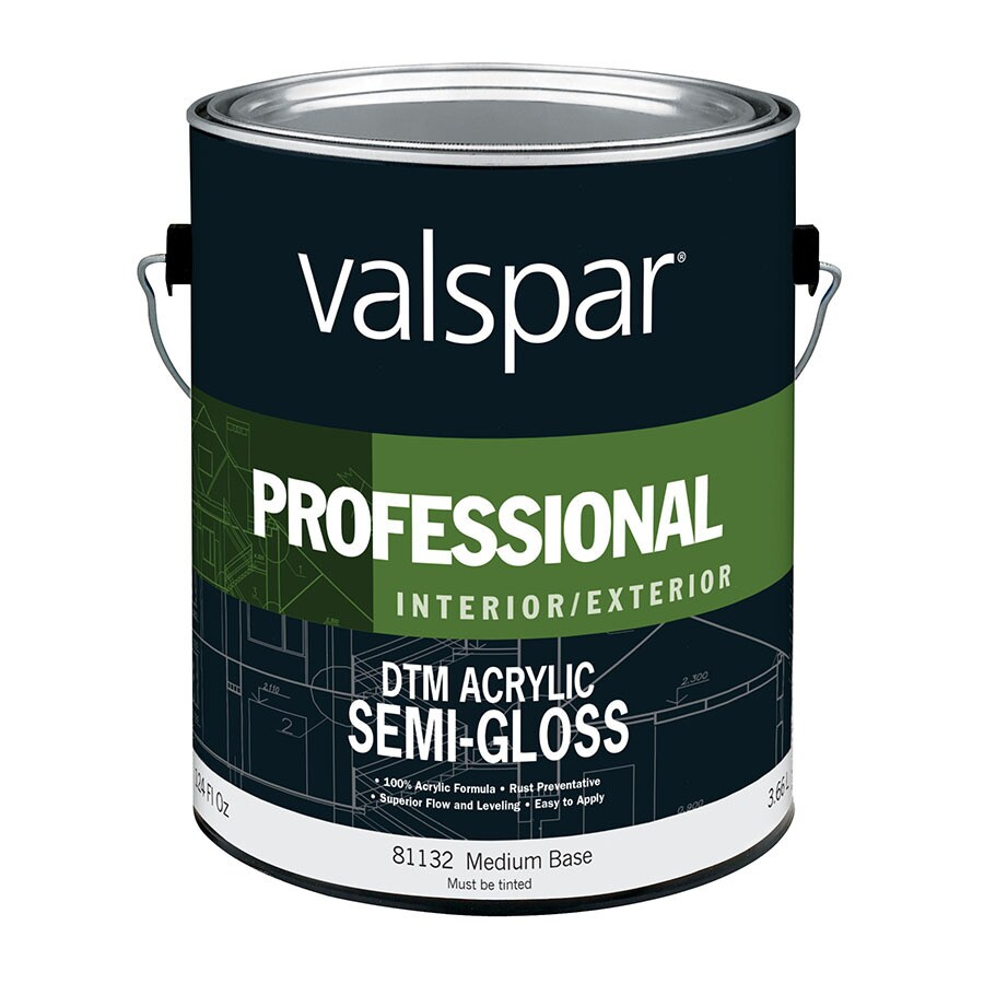 Valspar Pro DTM Semi-Gloss Interior/Exterior Paint (Actual Net Contents: 124-fl oz)