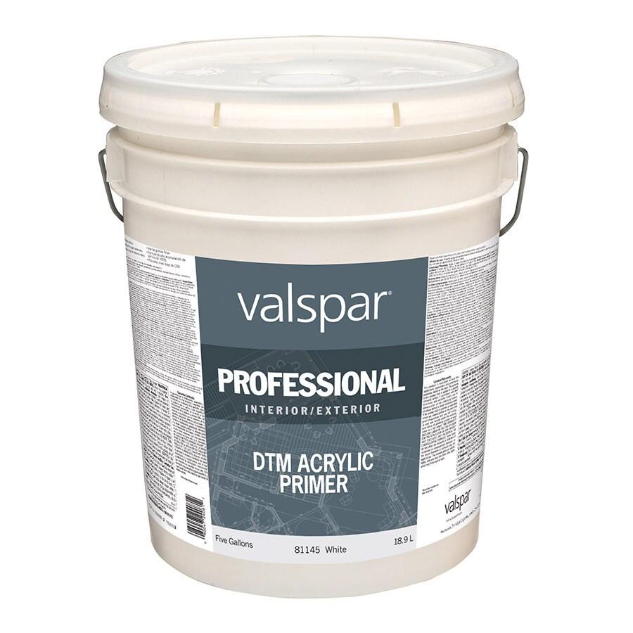 Valspar White Flat Latex Interior/Exterior Paint (Actual Net Contents: 640-fl oz)