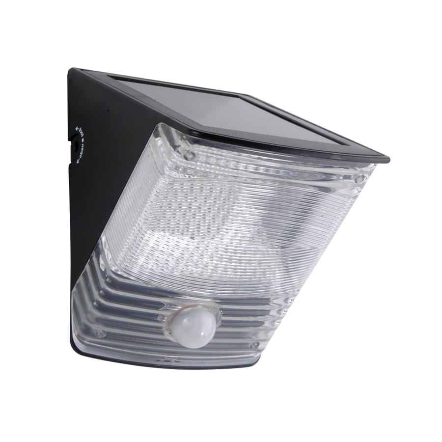 100 degree 1 head black solar powered led motion activated flood light. Black Bedroom Furniture Sets. Home Design Ideas