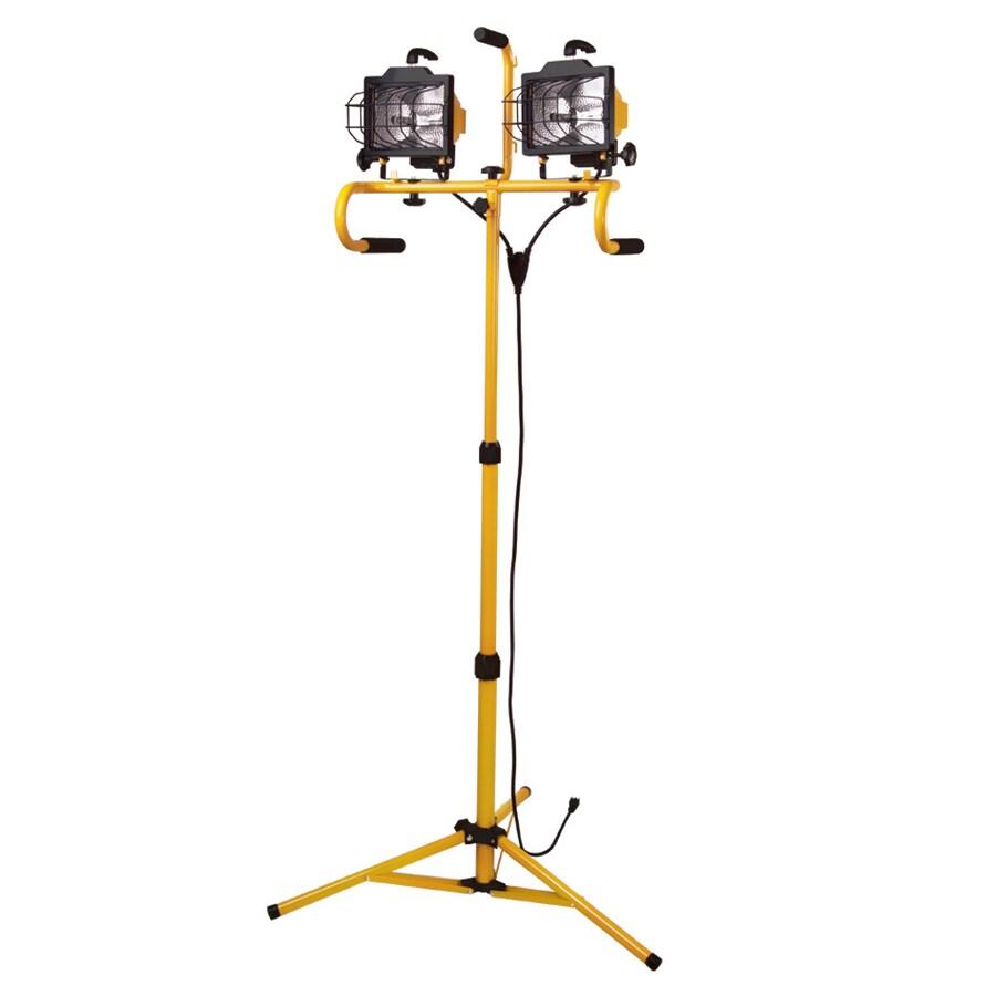 Utilitech 2-Light 500-Watt Halogen Stand Work Light