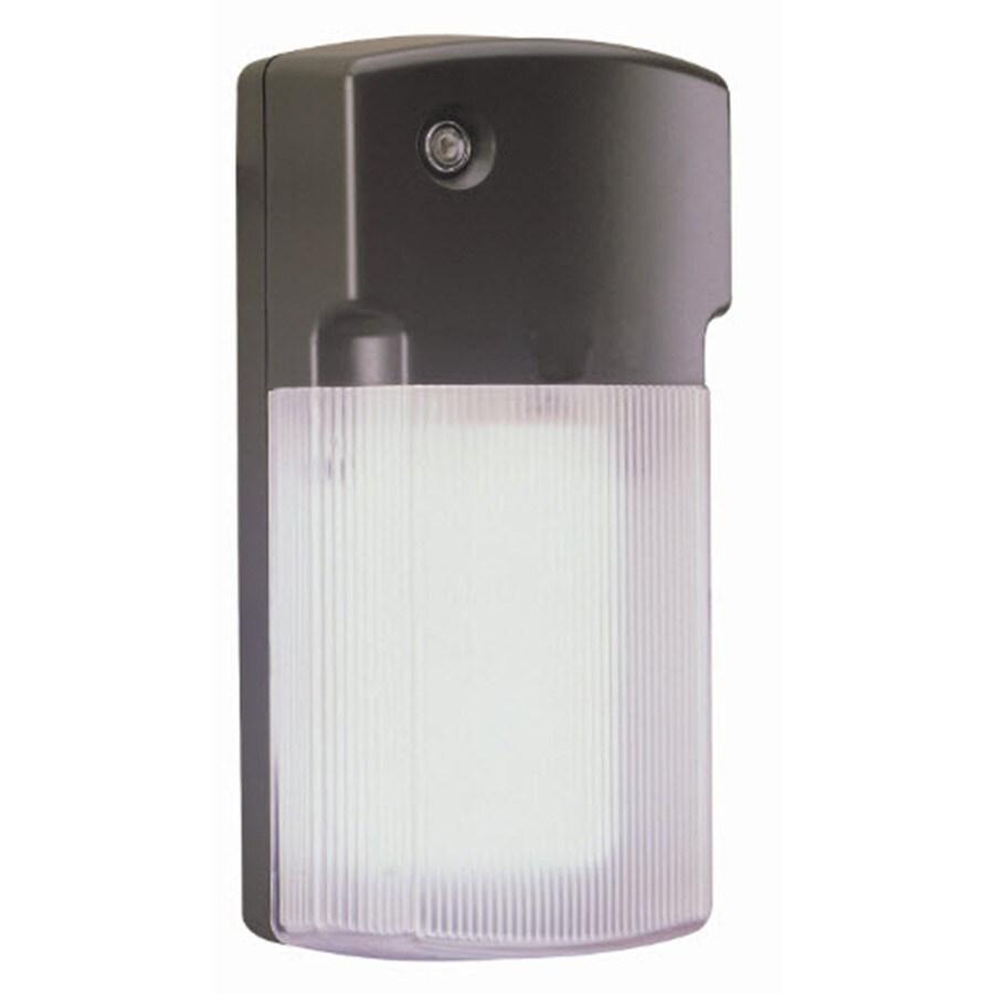 Utilitech 26-Watt Black Fluorescent Dusk-to-Dawn Flood Light