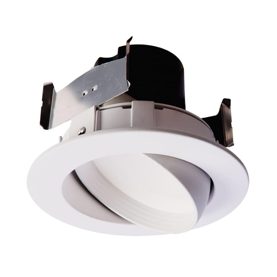 Halo 60-Watt Equivalent White LED Recessed Retrofit Downlight (Fits Housing Diameter: 4-in)