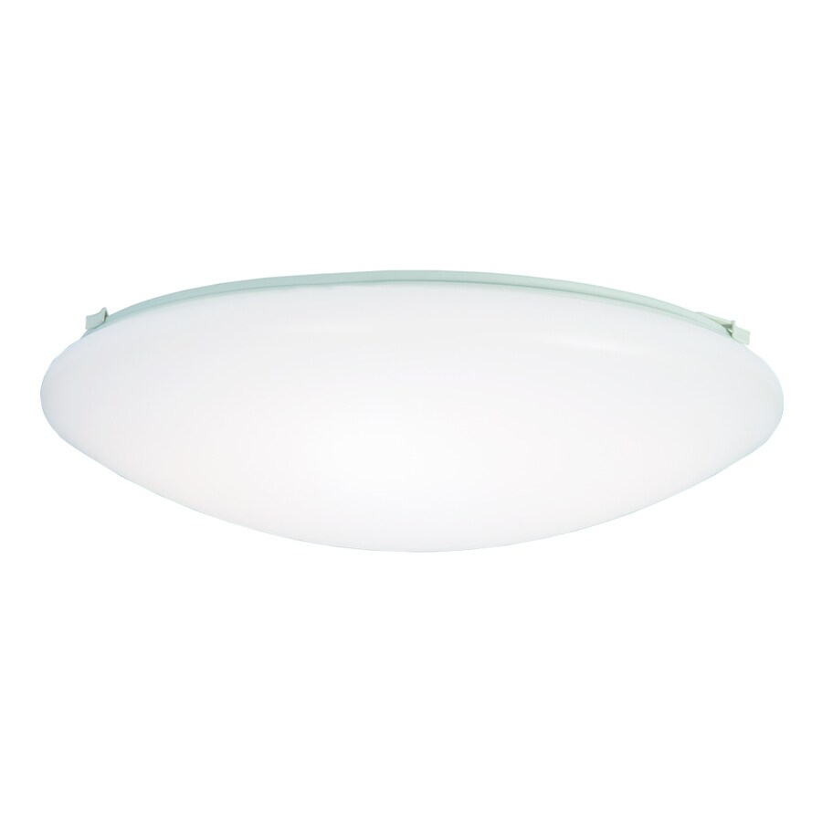 Shop metalux fmled 16 in w white led ceiling flush mount for Flush mount white ceiling light
