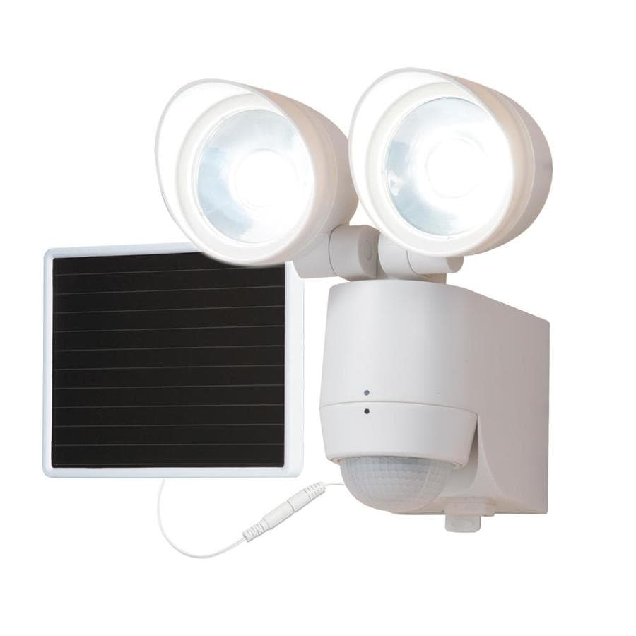 Motion Activated Flood Lights Solar Powered : All pro degree head white solar powered led