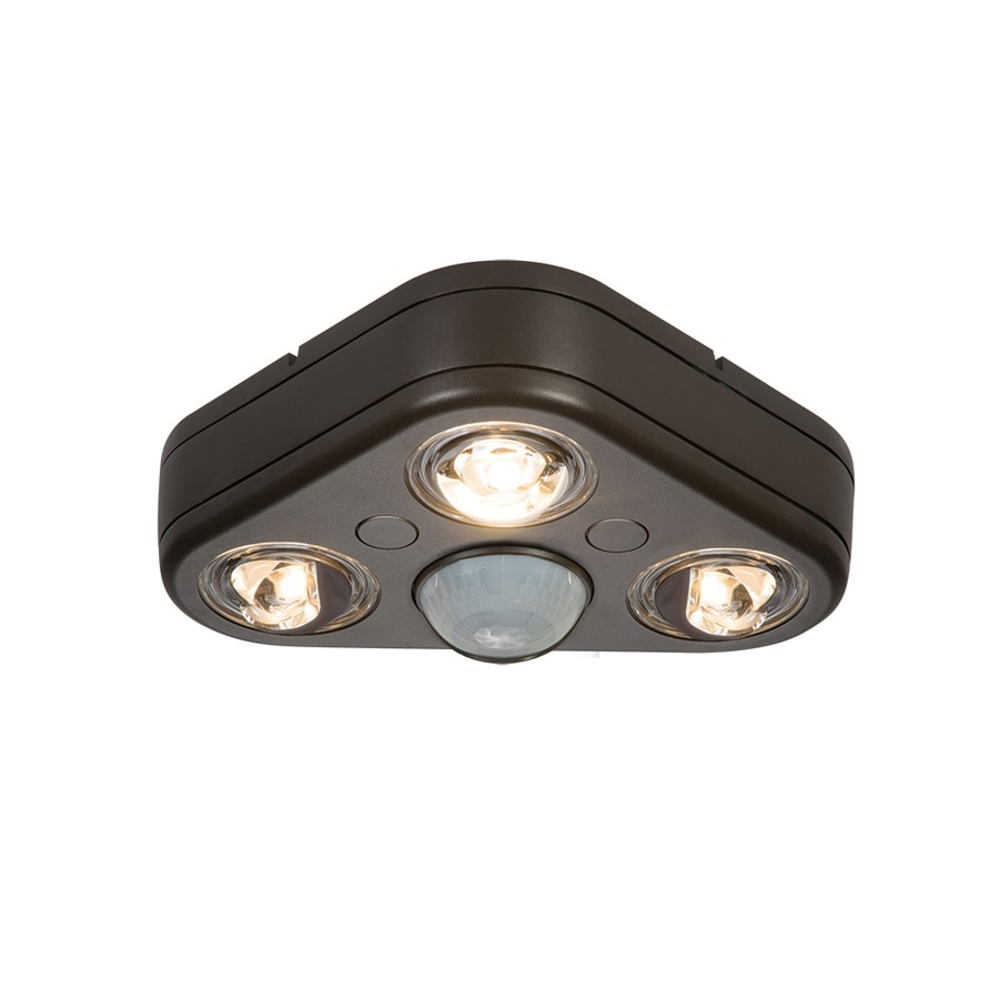 All-Pro Revolve 270-Degree 3-Head Bronze LED Motion-Activated Flood Light