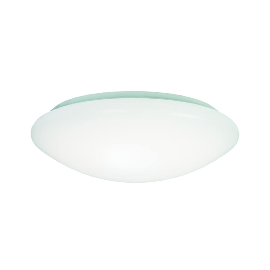 Shop metalux fmled 8 in w white led ceiling flush mount for Flush mount white ceiling light