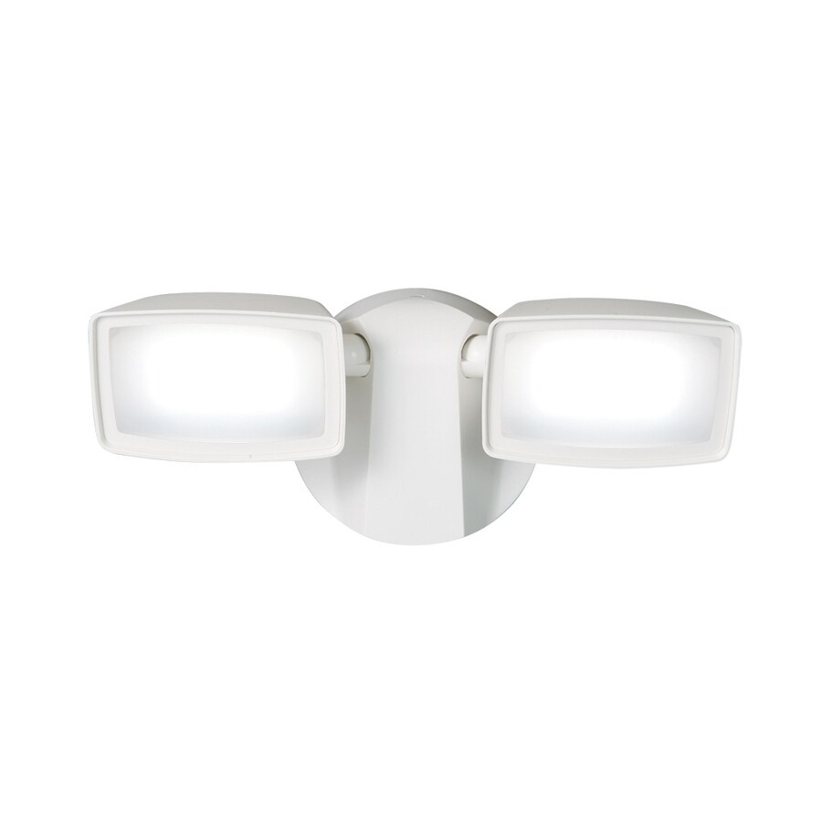 All-Pro 2-Head 13-Watt White LED Dusk-to-Dawn Flood Light