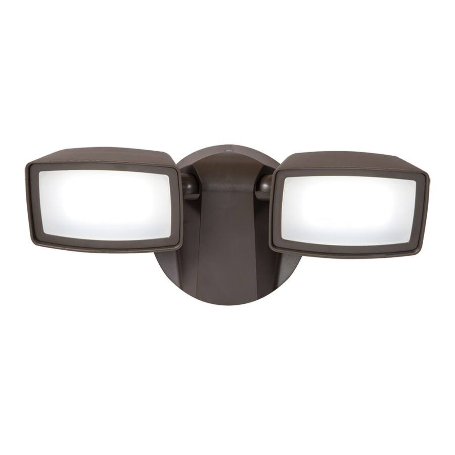 Dusk To Dawn Light At Lowes: Shop All-Pro 2-Head 13-Watt Bronze LED Dusk-to-Dawn Flood