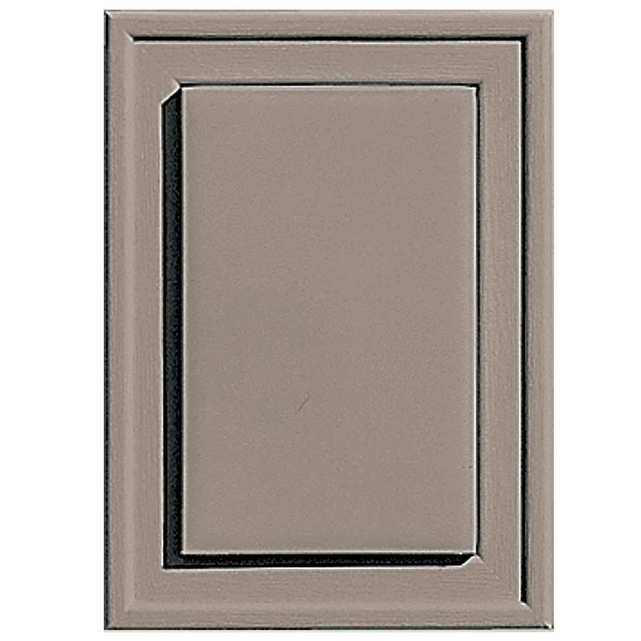 Builders Edge 4.5-in x 6.25-in Clay Vinyl Universal Mounting Block