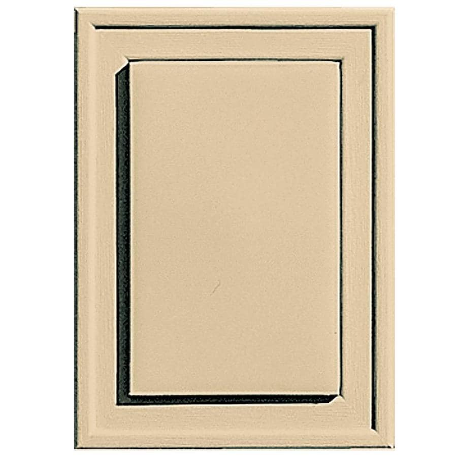 Builders Edge 4.5-in x 6.25-in Dark Almond Vinyl Universal Mounting Block