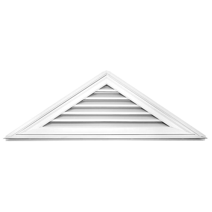 Builders Edge 9-in x 9-in White Triangle Vinyl Gable Vent