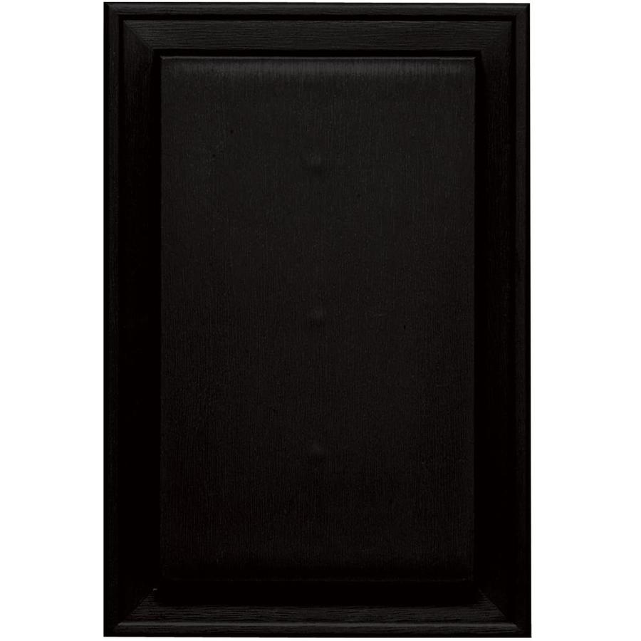 Builders Edge 8-in x 12-in Black Vinyl Universal Mounting Block