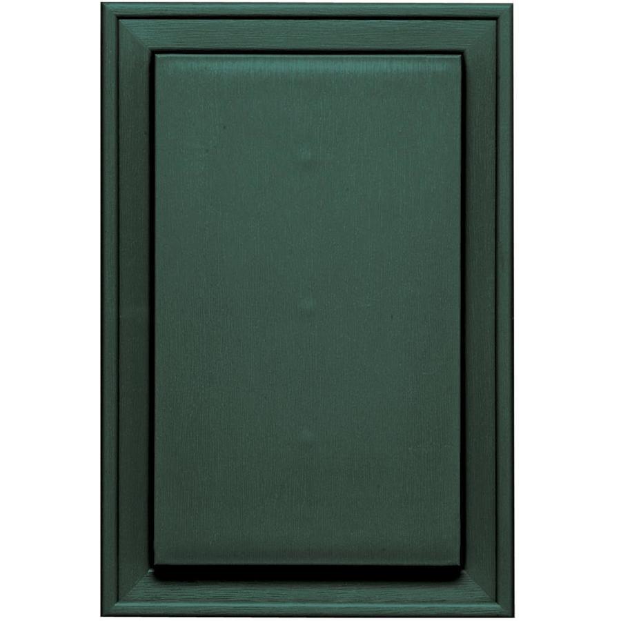 Builders Edge 8-in x 12-in Forest Green Vinyl Universal Mounting Block