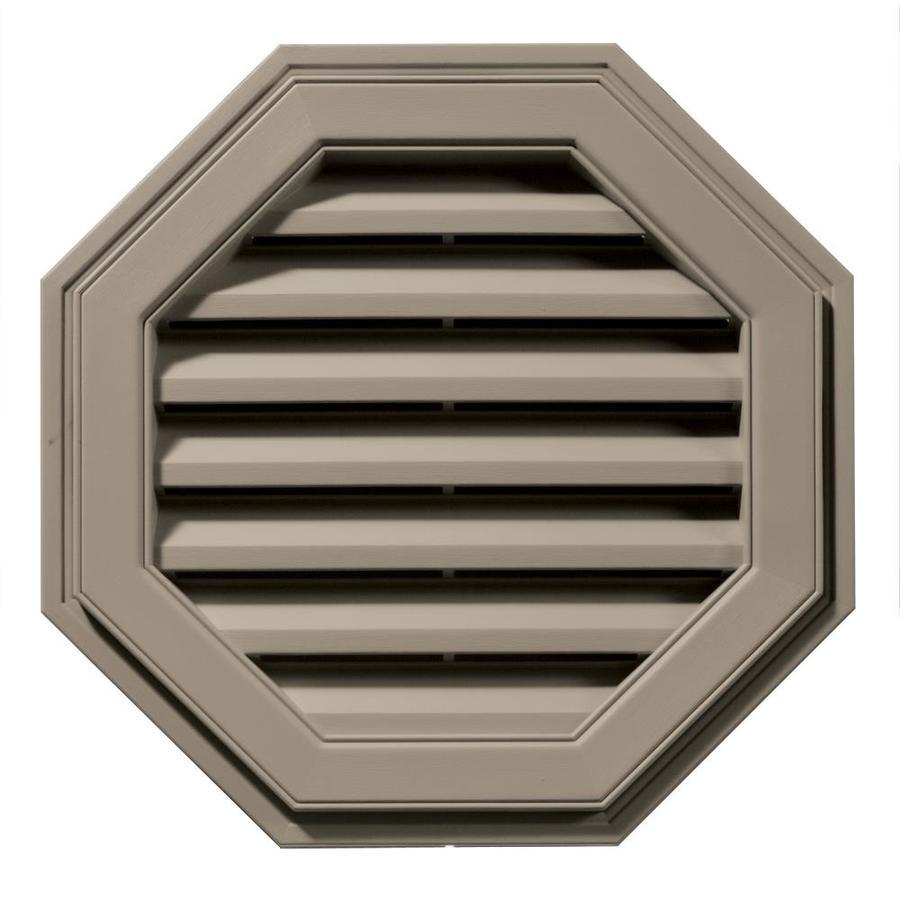 Builders Edge 8-in x 7-in Clay Octagon Vinyl Gable Vent