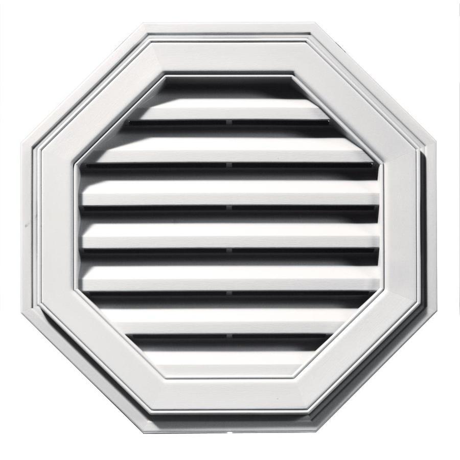 Builders Edge 8-in x 7-in Bright White Octagon Vinyl Gable Vent