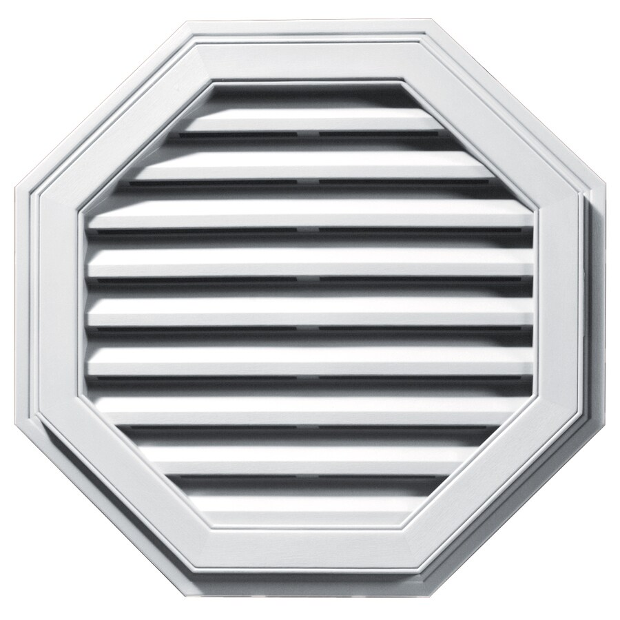 Builders Edge 16-in x 16-in White Octagon Vinyl Gable Vent