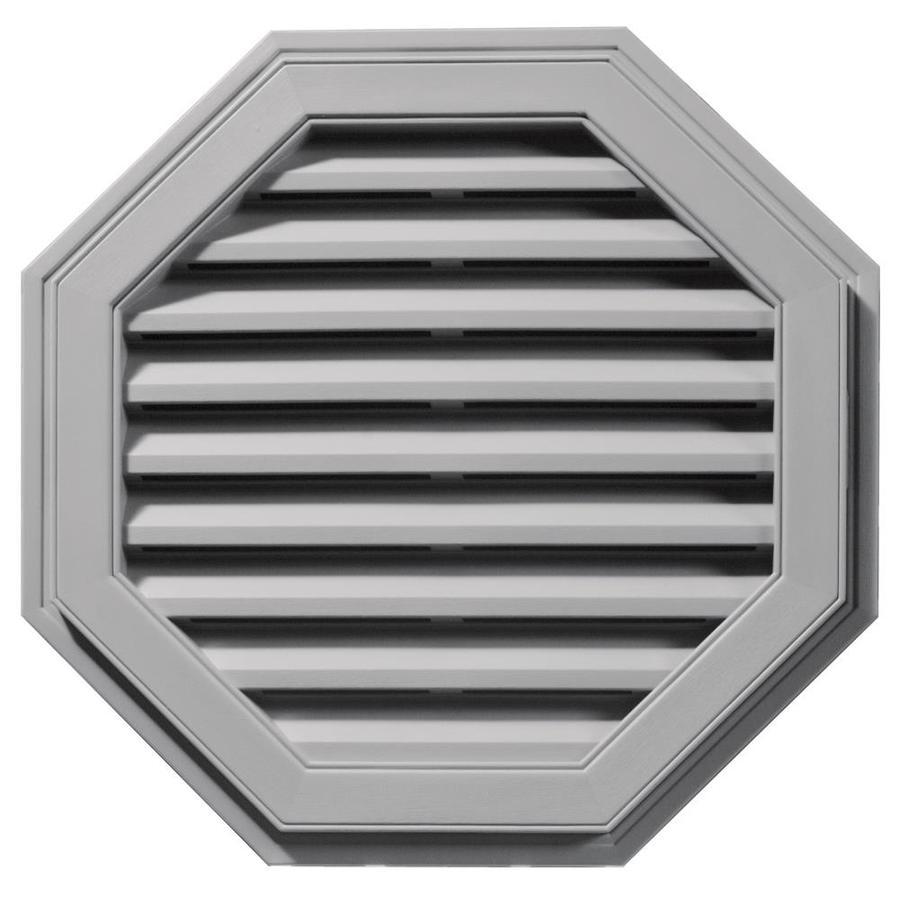 Builders Edge 9-in x 9-in Gray Octagon Vinyl Gable Vent