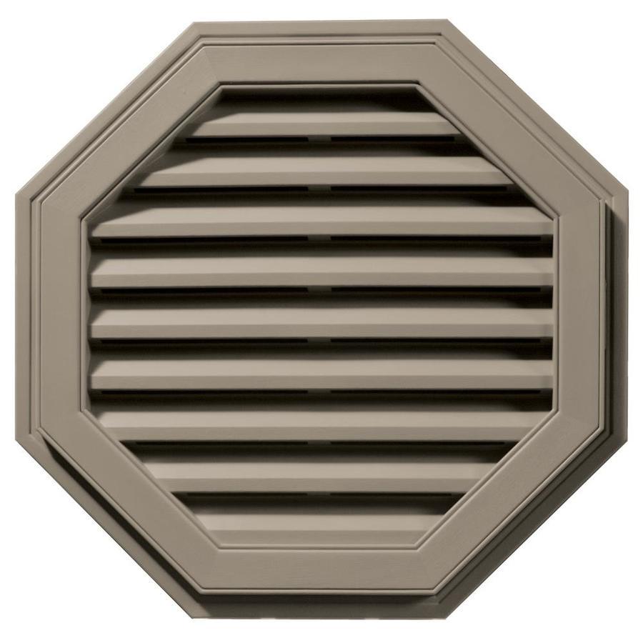 Builders Edge 9-in x 9-in Clay Octagon Vinyl Gable Vent