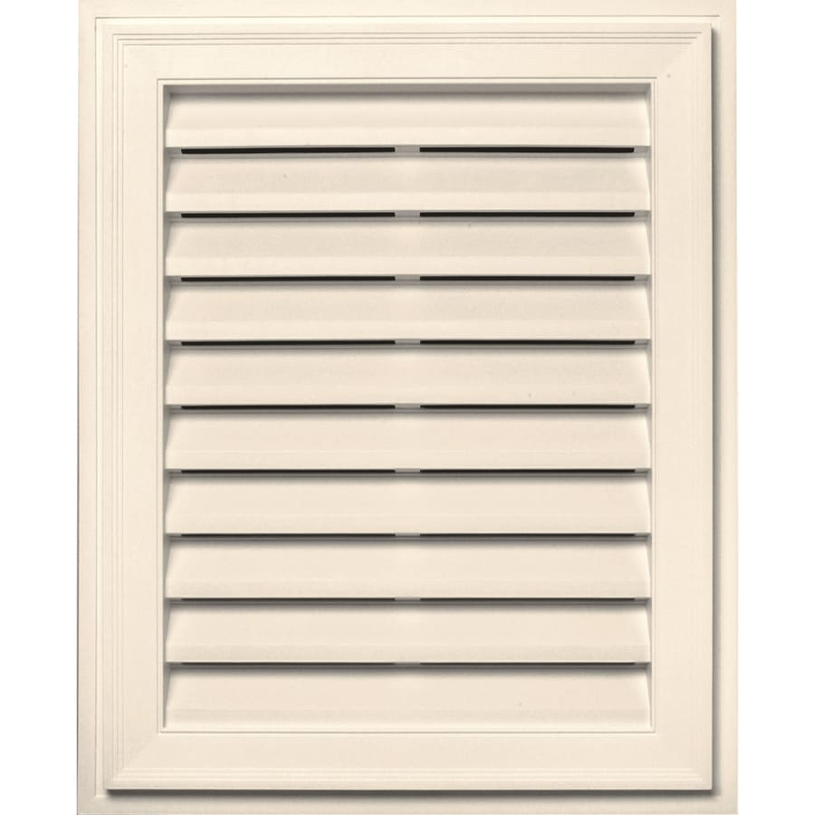 Builders Edge 16-in x 24-in Sandstone Beige Rectangle Vinyl Gable Vent
