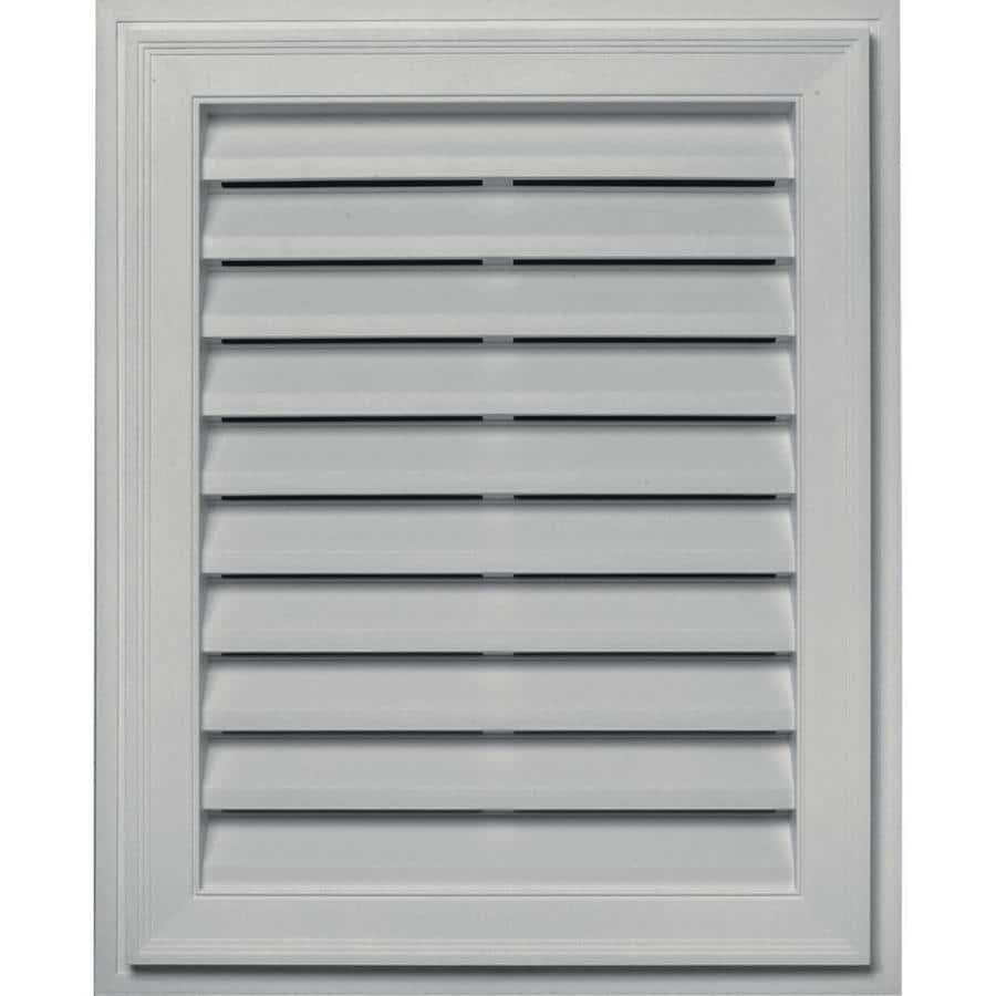 Builders Edge 16-in x 24-in Paintable Rectangle Vinyl Gable Vent