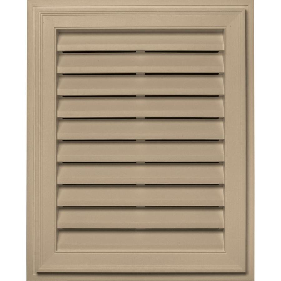 Builders Edge 16-in x 24-in Tan Rectangle Vinyl Gable Vent