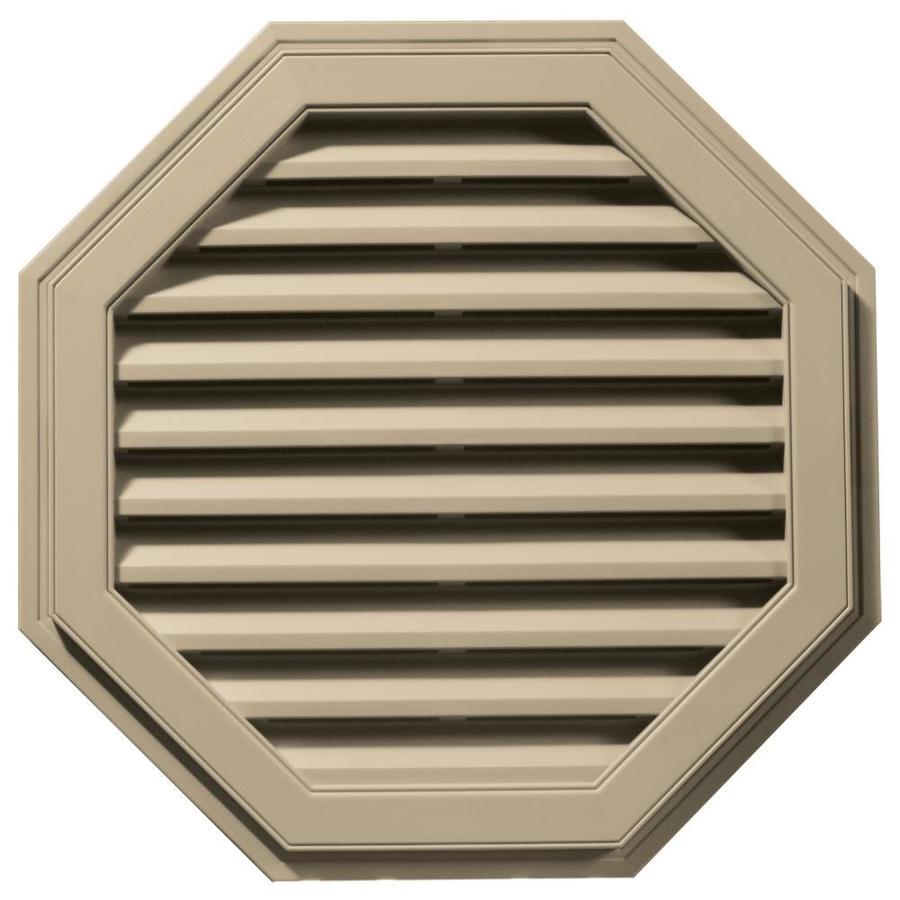 Builders Edge 11-in x 10-in Light Almond Octagon Vinyl Gable Vent