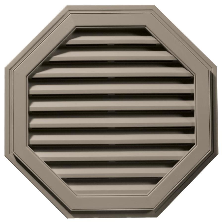 Builders Edge 11-in x 10-in Clay Octagon Vinyl Gable Vent