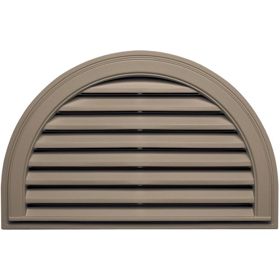 Builders Edge 10-in x 10-in Clay Half Round Vinyl Gable Vent