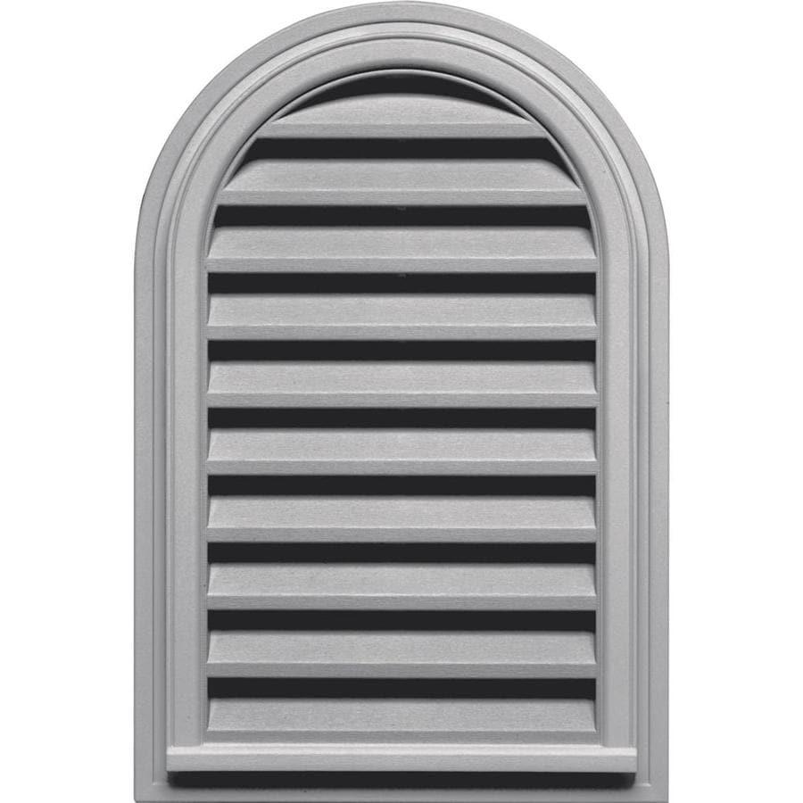 Builders Edge 9-in x 9-in Gray Round Top Vinyl Gable Vent