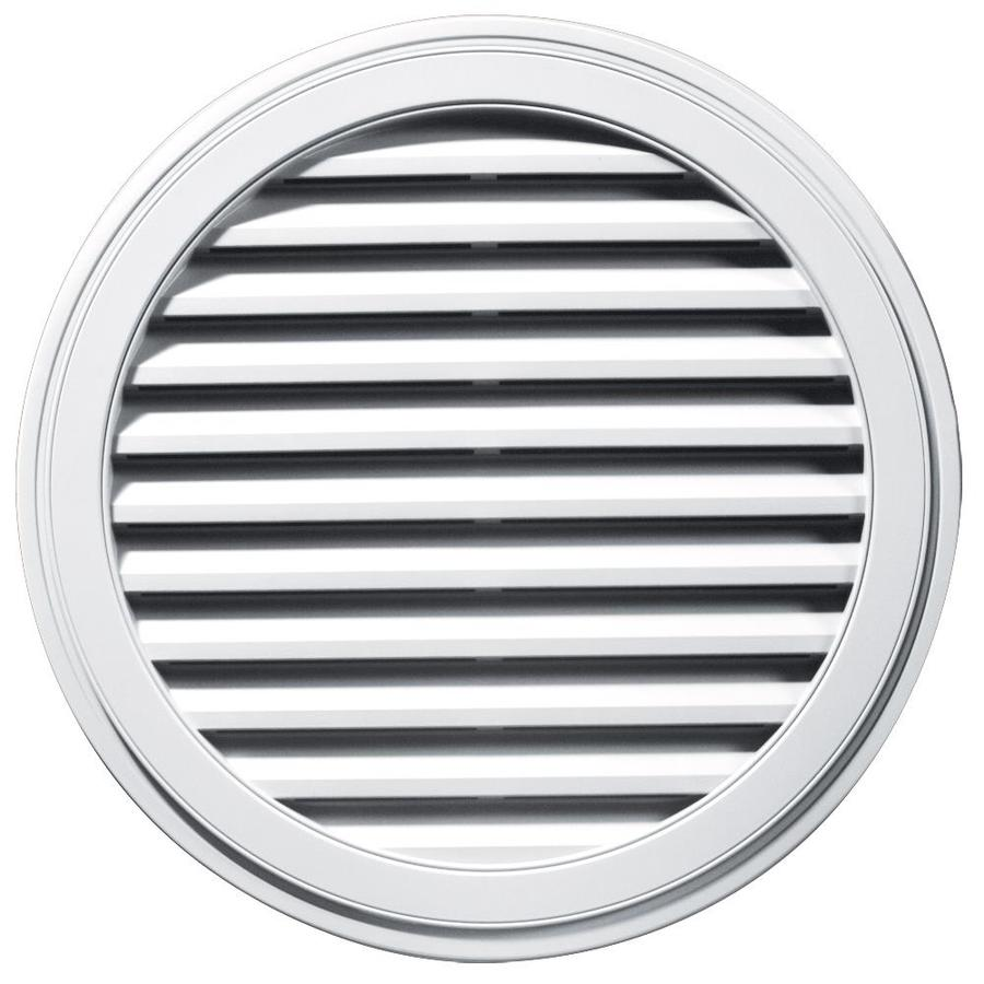Builders Edge 12-in x 12-in White Round Vinyl Gable Vent