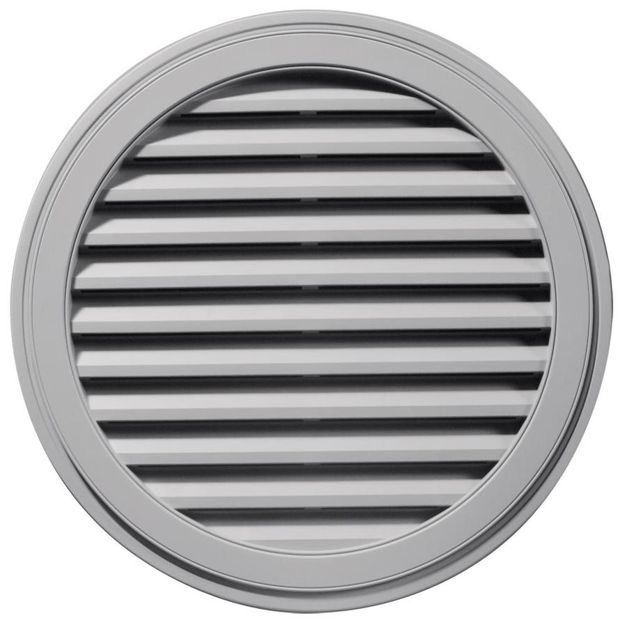 Builders Edge 12-in x 12-in Gray Round Vinyl Gable Vent