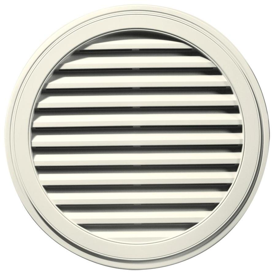 Builders Edge 12-in x 12-in Parchment Round Vinyl Gable Vent