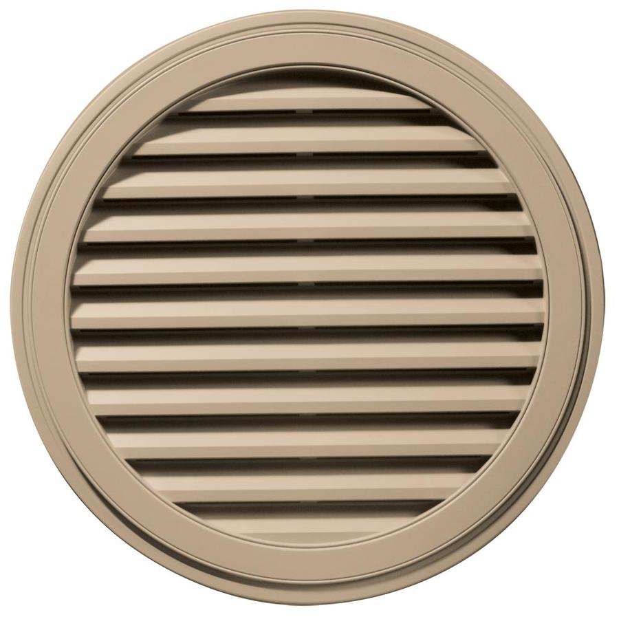 Builders Edge 36-in x 36-in Tan Round Vinyl Gable Vent