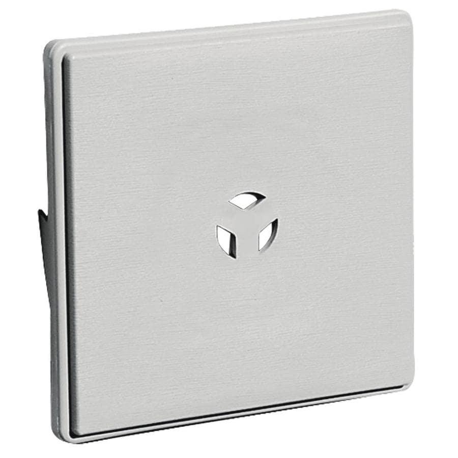 Builders Edge 6.625-in x 6.625-in Paintable Vinyl Universal Mounting Block