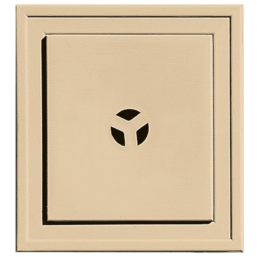 Builders Edge 7.3125-in x 7.3125-in Dark Almond Vinyl Universal Mounting Block