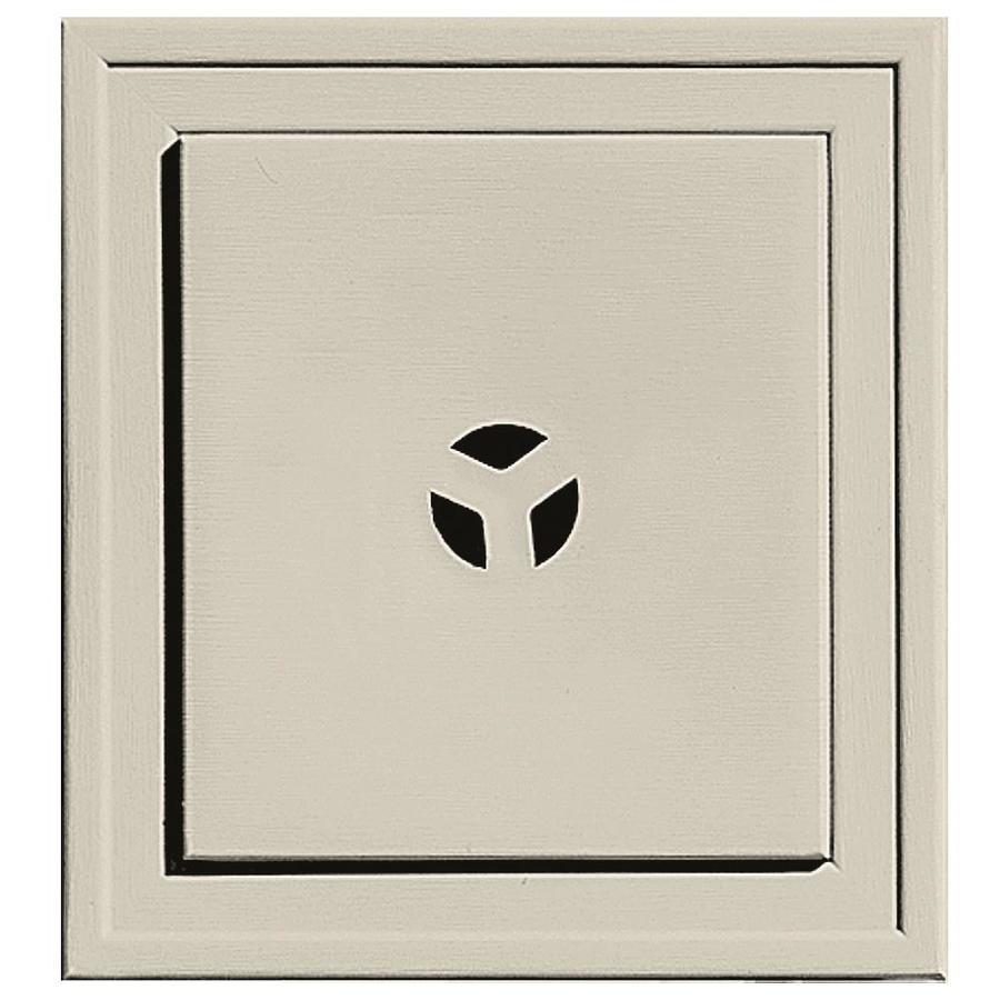 Builders Edge 7.3125-in x 7.3125-in Champagne Vinyl Universal Mounting Block