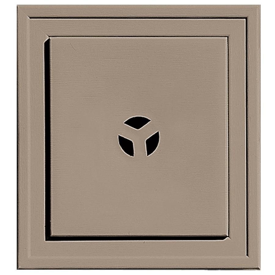 Builders Edge 7.3125-in x 7.3125-in Clay Vinyl Universal Mounting Block